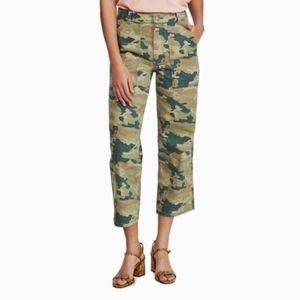 NWT FREE PEOPLE | REMY CAMOUFLAGE CROPPED PANTS